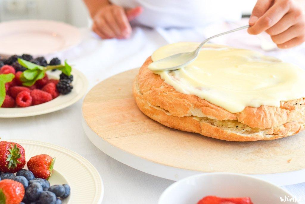 Taart van brood - (c) Wimke.nl