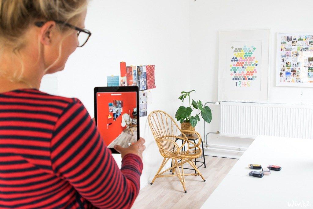 Zolder met lef door het toevoegen van kleur - De FLEXA kleurentester - Wimke
