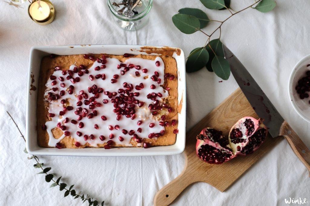 Recept voor granaatappel cake