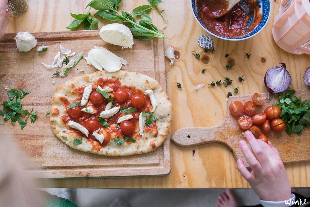 Naanbrood pizza - het resulaat