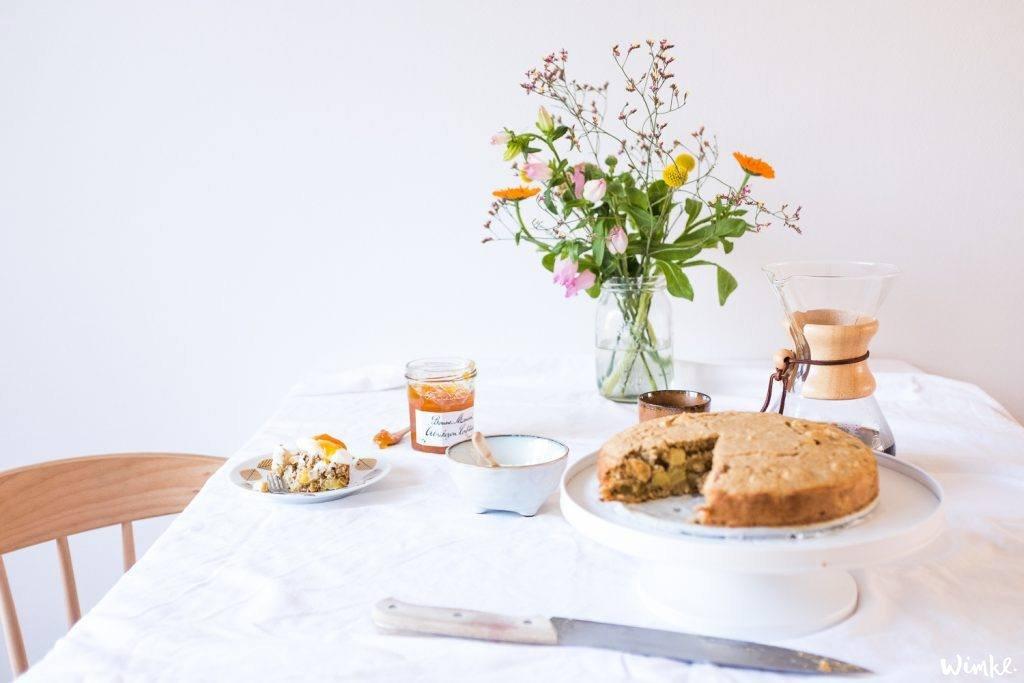 Maak zelf een heerlijke ontbijttaart met o.a. kwark en jam