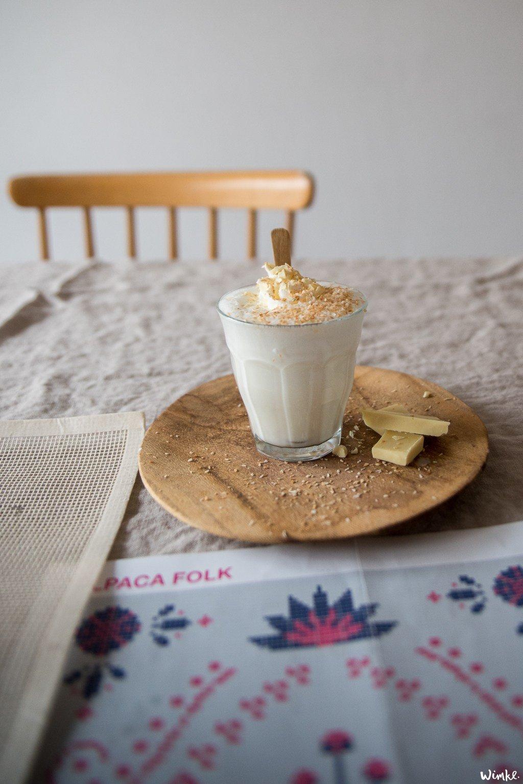 witte chocolade kokosmelk - Wimke.nl