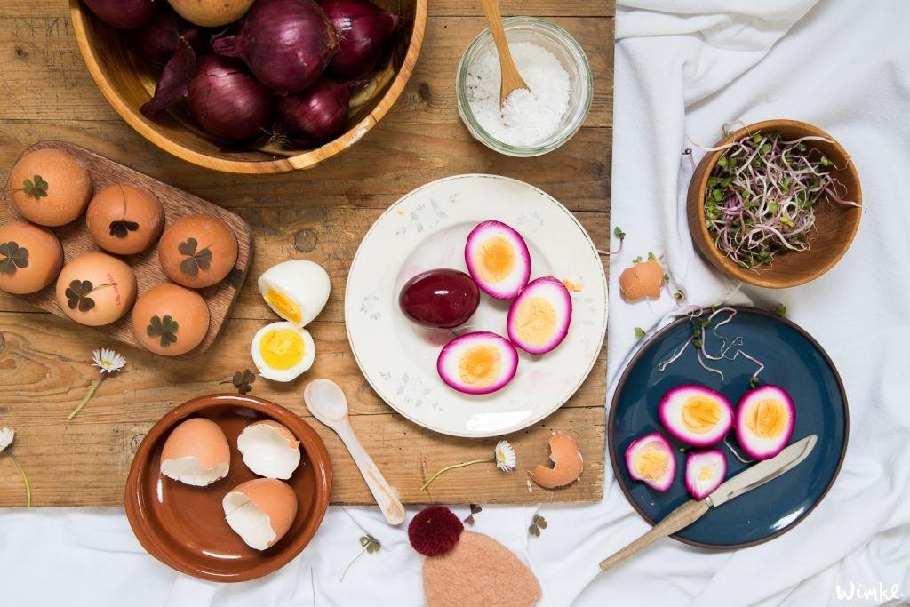DIY roze en gebloemde eieren