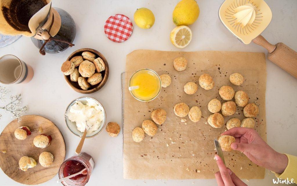 Recept scones met citroen maanzaad en romige lemoncurd