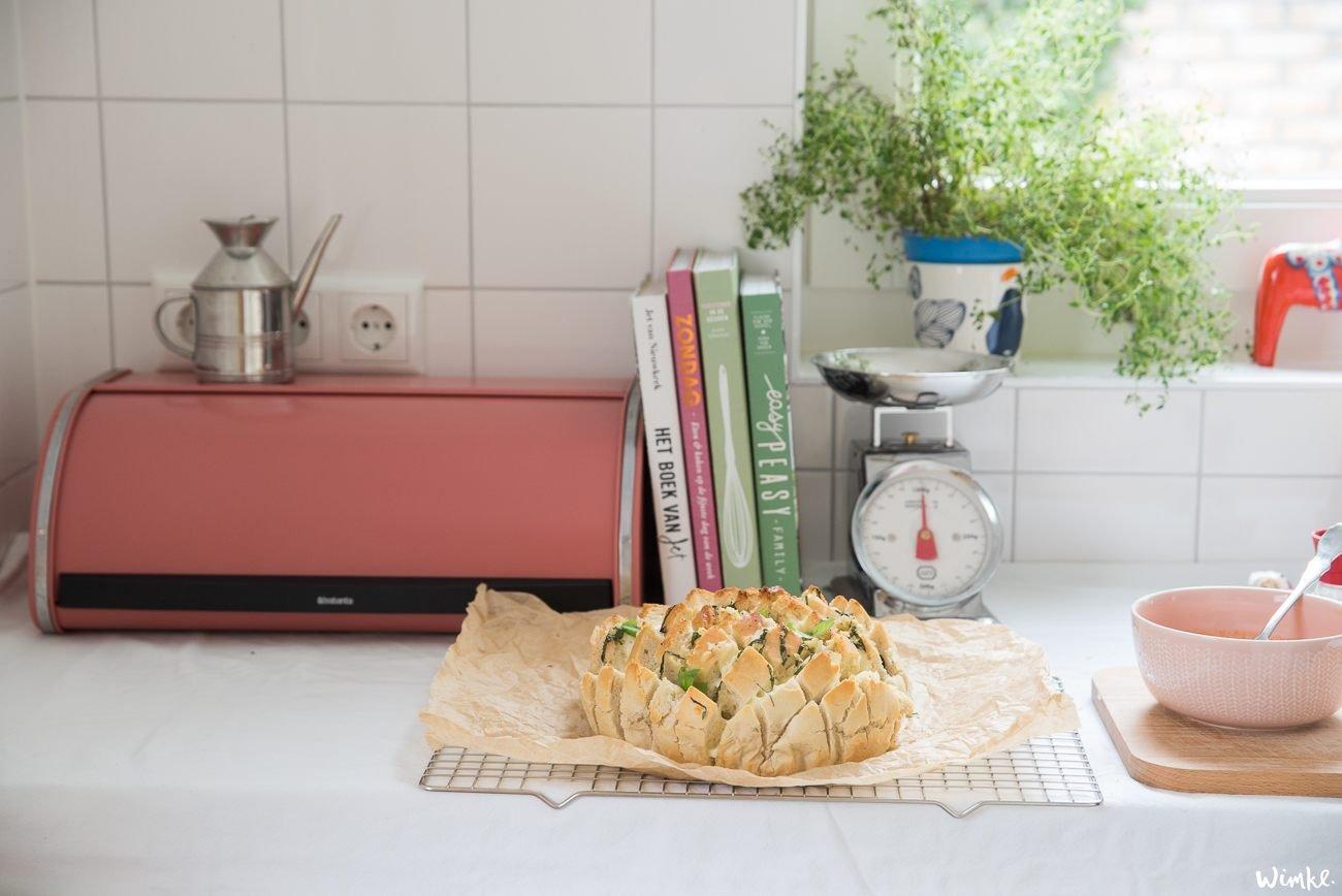 Recept plukbrood met veel knoflook
