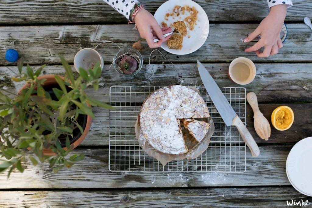 Herfst en een herfstrecept: Sinaasappelcake met amandelen